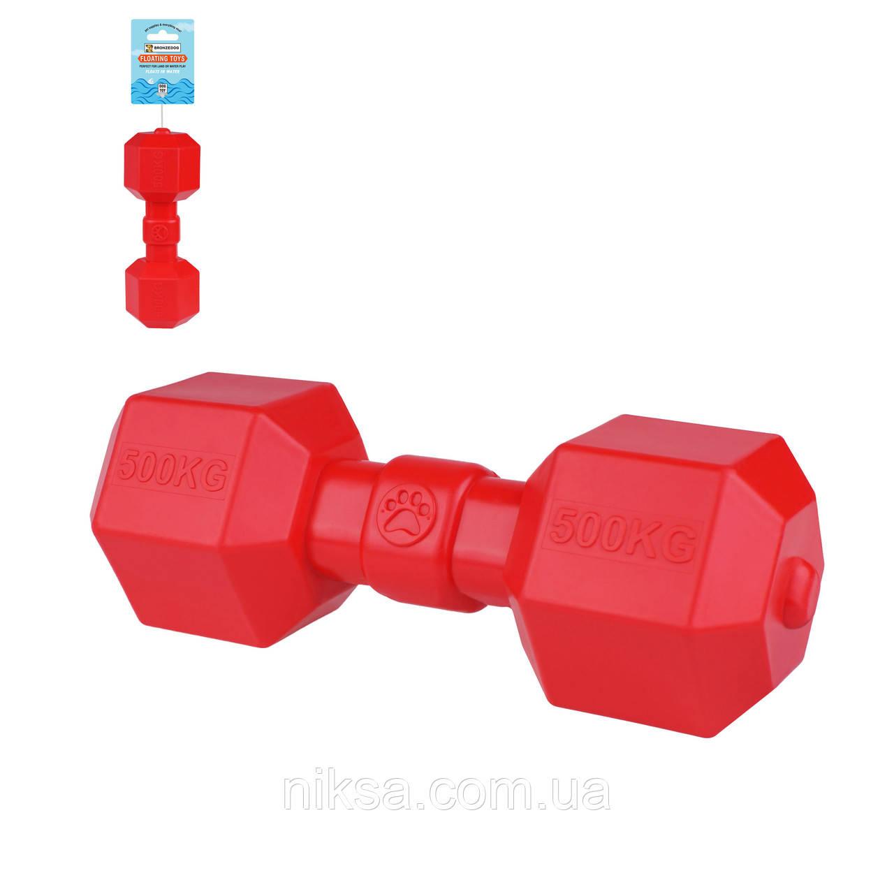 """Игрушка для собак плавающая """"Гантеля"""" 9 х 20 см серия FLOAT """"Bronzedog"""""""