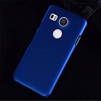 Пластиковый чехол для LG Google Nexus 5X синий, фото 1