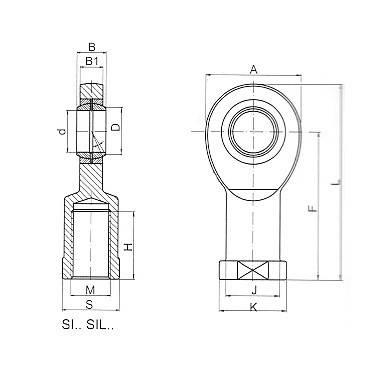 Подшипник ковзання SIL 08T/K (SIL08T/K)  XMVB, фото 2