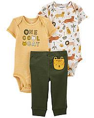 "Набор Carter's ""Лев""  для мальчика два боди + штанишки"