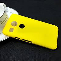 Пластиковый чехол для LG Google Nexus 5X жёлтый, фото 1