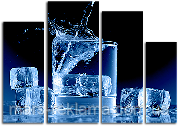 Модульна картина «Кубики льоду»