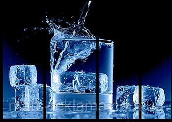 Модульная картина «Кубики льда»