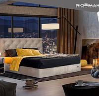 Двоспальне ліжко з м'яким узголів'ям Брістоль ТМ Richman, фото 1