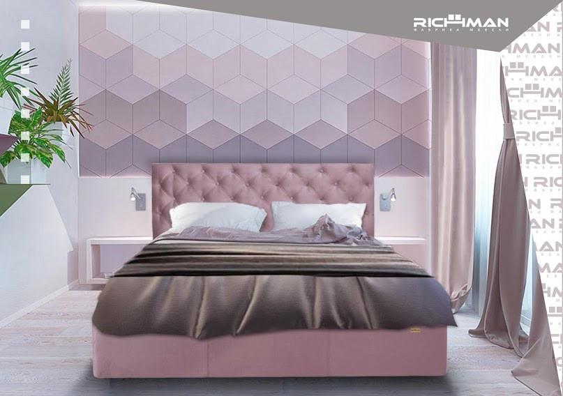 Двоспальне ліжко з м'яким узголів'ям Ковентрі ТМ Richman