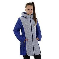 Подовжена демісезонна куртка для дівчинки ріст 146-158