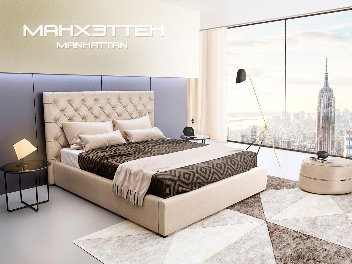 Кровать Манхетен 1-ЛЮКС 160\200