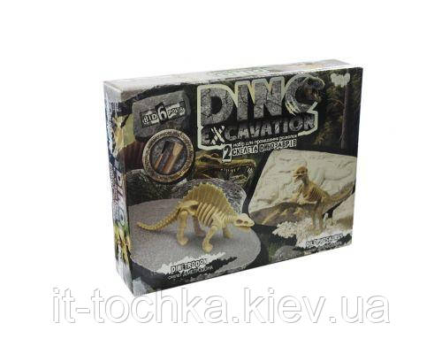 Набір для проведення розкопок динозаврів dankotoys dex-01-05 dino excavation Диметродон і Дилофозавр