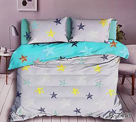 Комплект постельного белья двуспальный с компаньоном R7459 ранфорс