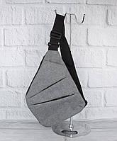 Чоловіча сумка-слінг, кобура, рюкзак через плече 8061 сірий, фото 1
