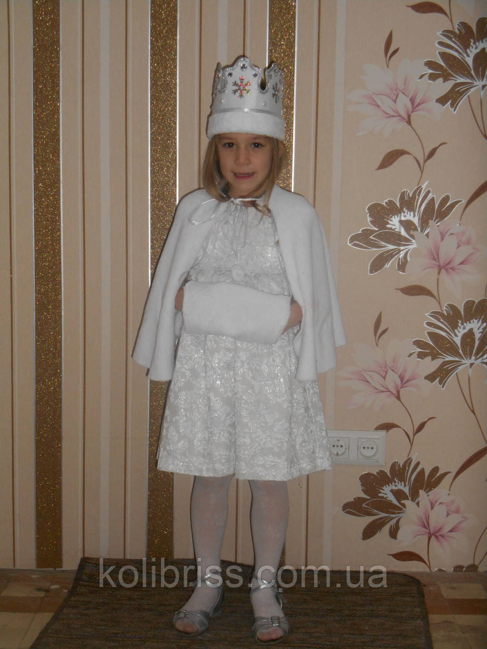 Костюм снегурочки в белом. Детский костюм снегурочка прокат Киев