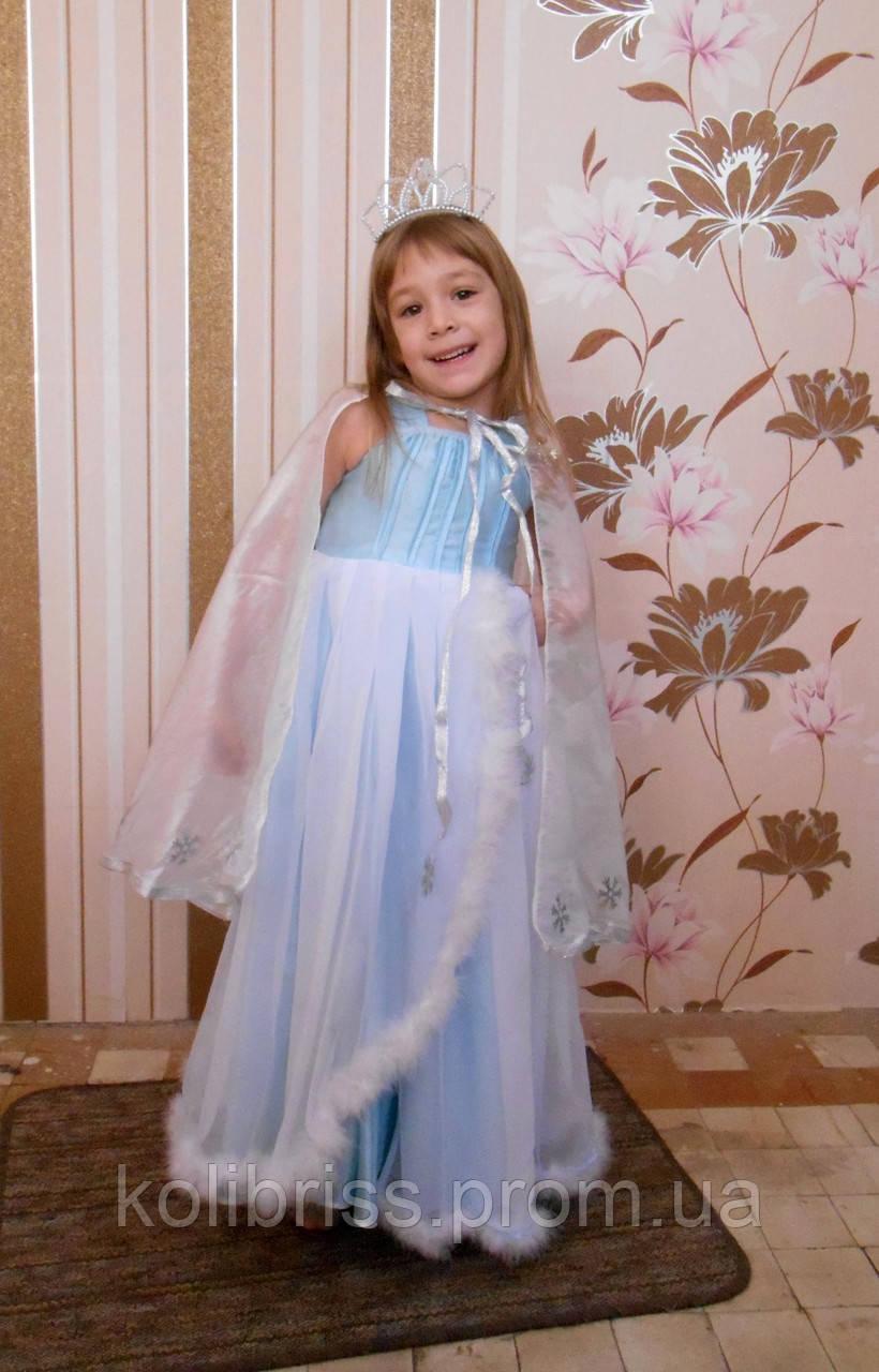 Костюм снегурочки в голубом. Детский костюм снегурочка прокат Киев