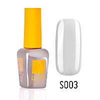 Гель-лак для ногтей LEO seasons №003 Плотный белый с серым оттенком 9 мл