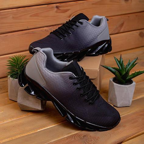 Чоловічі кросівки Ривал Спайс Pobedov (чорно-антрацит) 43, фото 2