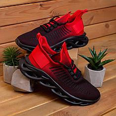 Мужские кроссовки Ривал Грот Pobedov (черно-красные) 43