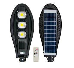 Вуличний ліхтар на сонячній батареї на стовп UKC (ART7482) 330W, світильник з датчиком руху і пультом