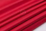 Лоскут сатин однотонного красного (алого) цвета №3110с, размер 29*70 см, фото 4