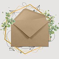 Крафт конверт С6, ЭКО 80г\м. клапан треугольный, 114*162 мм