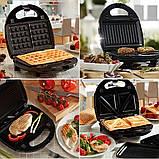Сендвичница мультипекарь 4 в1 Grant Hoff GT-779 1200W   Сендвичница-гриль, бутербродниця, вафельниця, горішниця, фото 2