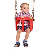 Детские подвесные качели Rigid КВТ Бельгия для дома дачи двора (Качеля для детей цельное сиденье)