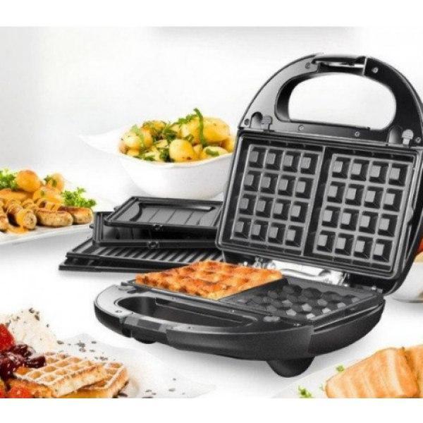 Сендвичница мультипекарь 4в1 Grant Hoff GT-779 | Сендвичница-гриль, бутербродница, вафельница, орешница Уценка