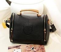 Стильная Модная винтажная женская сумка ,черная, повседневная