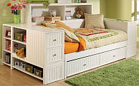 Односпальная кровать с ящиками - Бенедикт