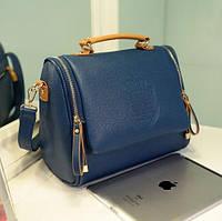 Стильная Модная винтажная женская сумка ,синяя, повседневная