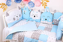 Комплекти в дитячу кроватку з подушками іграшками