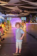 Детский легкий нарядный костюм для мальчика с шортами на 6 и 10 лет Baby Band Италия 2041/3 Серый