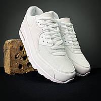 Мужские белые кроссовки Аир Макс подошва на подушке люкс качество Air Max