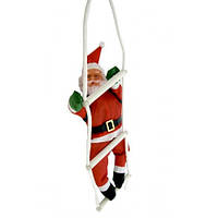Новогодняя Фигура Деда Мороза (Санта Клауса) 20 см на лестнице
