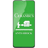 Защитное стекло-пленка Fiji Ceramics для Tecno Spark 4 Lite черный Full Glue 0,26 мм в упаковке