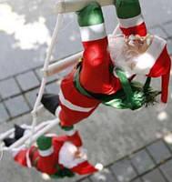 Новогодние Фигуры Деда Мороза 30 см на лестнице 1,2 метр - фигурки Санта Клауса