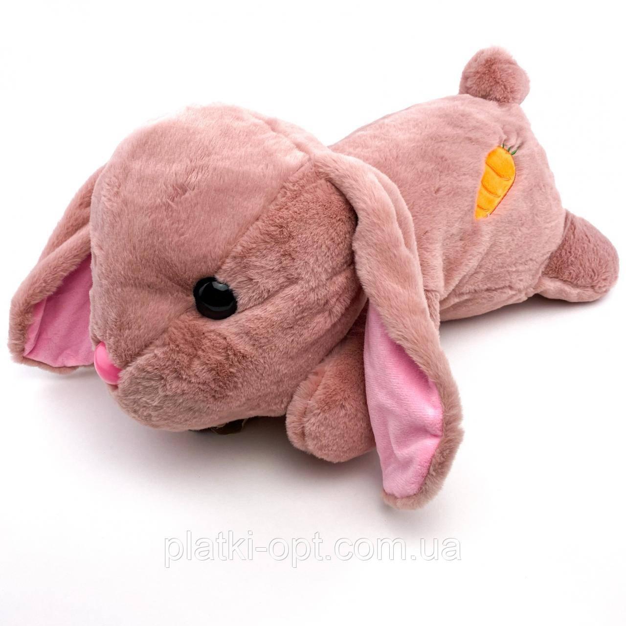 """Детский плед-игрушка """"Кролик"""" (розовый)"""