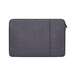 Чехол для ноутбука 13-14 дюймов Темно серый