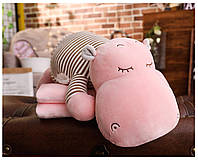 """Детский плед-игрушка """"Бегемотик"""" (розовый)"""