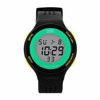 Женские спортивные часы Sm 1014 (black-yellow)-(New 2016)