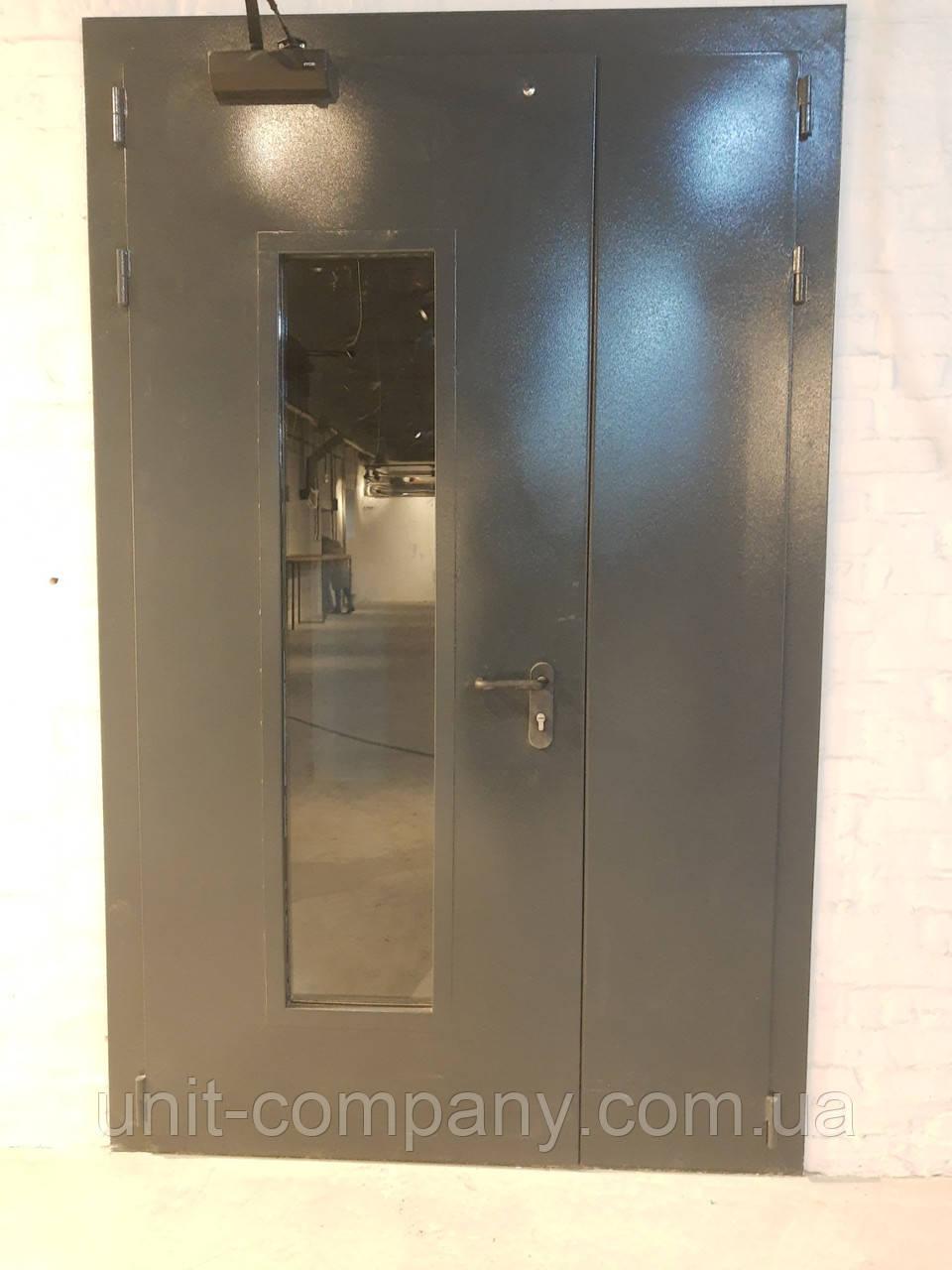 Двері протипожежні ЕІ-30 зі склінням