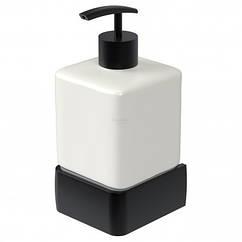 Дозатор для жидкого мыла на стену HACEKA Aline Mat Black 1196880 черный 200мл керамика 88395