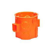 Коробка монтажна поліпропілен 650°С самозатух д/бетон набірна глибока з шуруп SMARTBOX OC60FDs