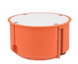 Коробка распределительная для полых стен с крышкой полипропилен 650°С самозатухающая 70 мм SIMET P70F