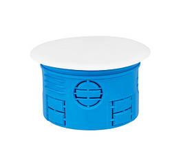 Коробка распределительная для сплошных стен с крышкой полиамид 960°С не горючая 70 мм SIMET Z70K