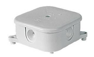 Коробка розподільча зовнішня 85х85х40 IP44 з клемником, 5х2,5мм SIMET PO-75