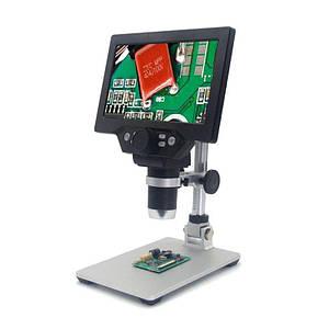 Цифровий мікроскоп з 7-дюймовим LCD екраном і підсвічуванням GAOSUO G1200HD, c збільшенням до 1200X, живлення від