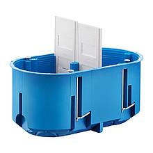 Коробка монтажная 2-х местная для гипсокартона полиамид 960°С не горючая глубокая с шурупами, SIMET P2x60D