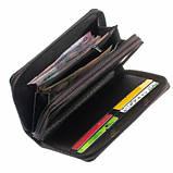 Мужской кошелек shaishi, черный, клатч, на змейке, 3 секции, отделение для карточек, эко кожа, фото 3