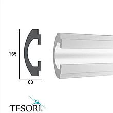 Молдинг TesoriKD 112 (1.15м), Светодиодные системы непрямого освещения из пенополистирола.