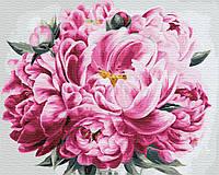 Картина рисование по номерам Brushme Розовый пион GX24600 40х50см набор для росписи, краски, кисти, холст