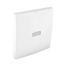 Клавиша выключателя одноклавишного с подсветкой EFAPEL LOGUS90 белая 90602 TBR
